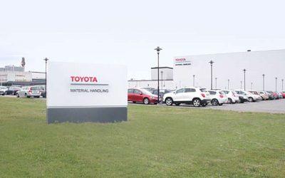 Ahorro de agua y reducción de CO2 en el taller de pintura de la fábrica de Toyota Material Handling