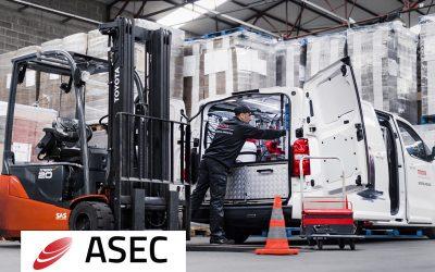 RPG Carvin, concesionario oficial de carretillas elevadoras Toyota, obtiene en 2019 de nuevo el certificado de excelencia ASEC